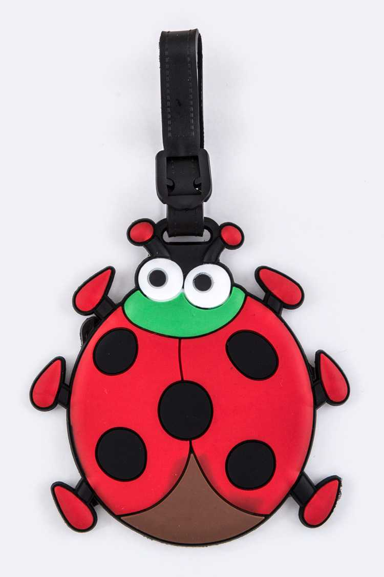 Ladybug Jelly Bag & Luggage Tag
