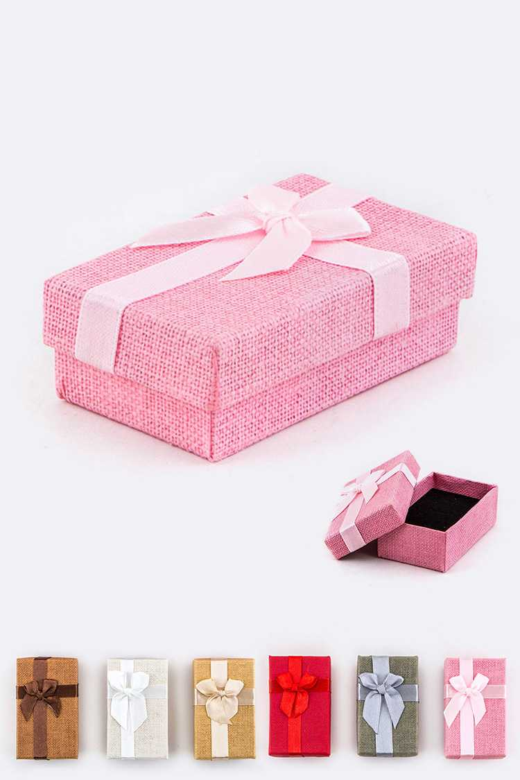 Canvas with Bow Jewelry Gift Box Set