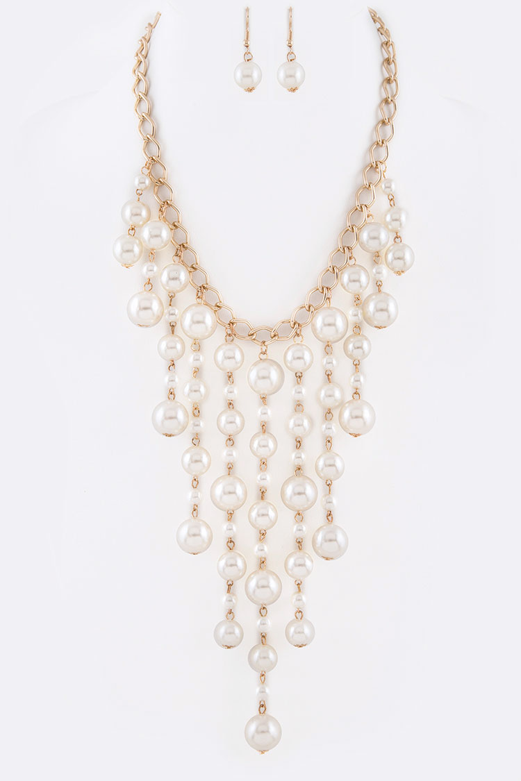 Pearl Drop Iconic Necklace Set