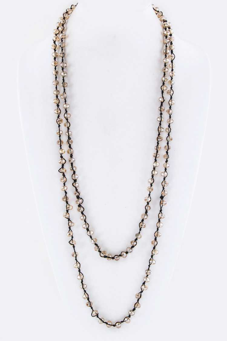 Beads Long Station Necklace