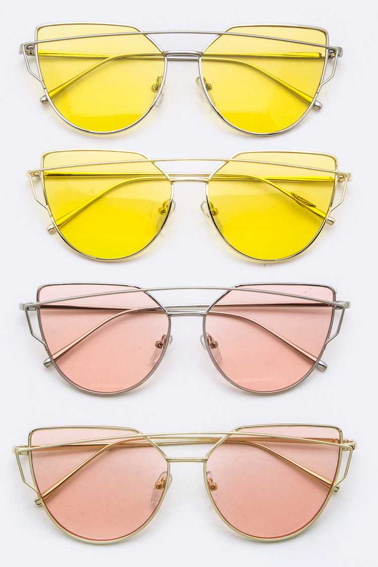 Color Tinted Iconic Sunglasses