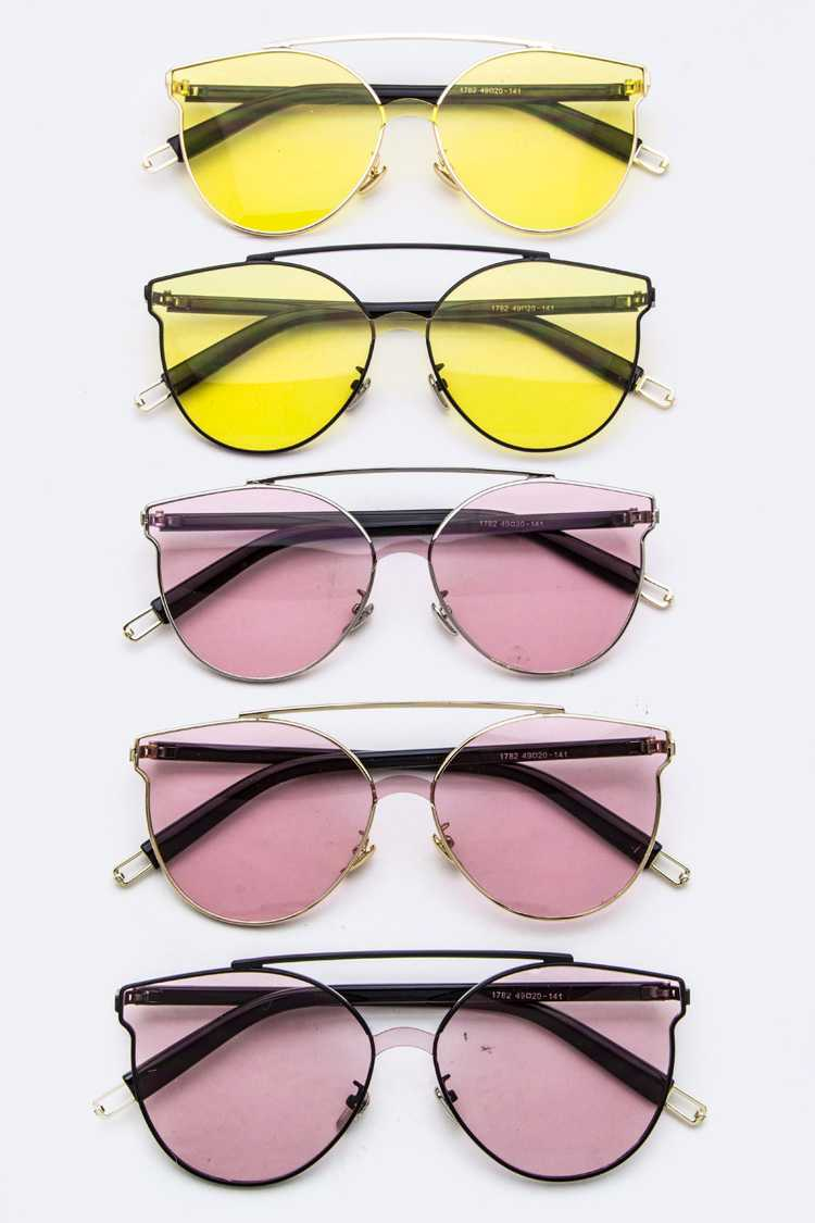 Color Lens Fashion Oval Glasses