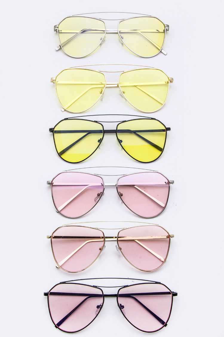 Color Tinted Iconic Aviator Sunglasses