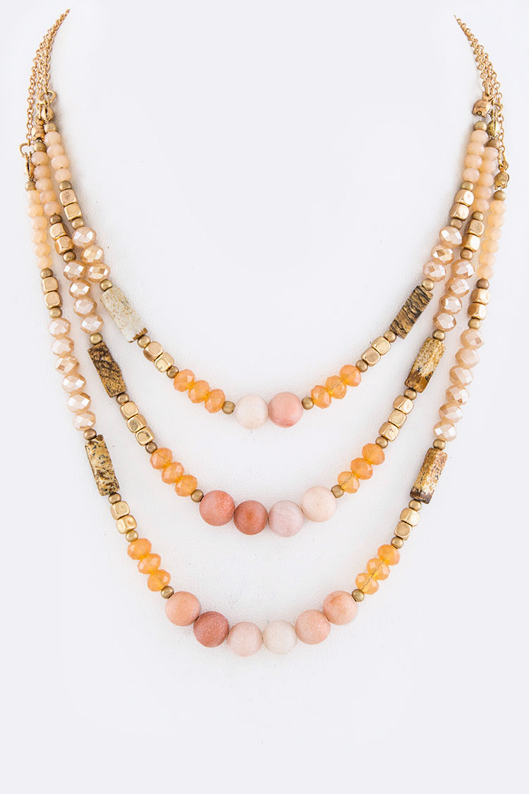Mix Stone Layer Necklace