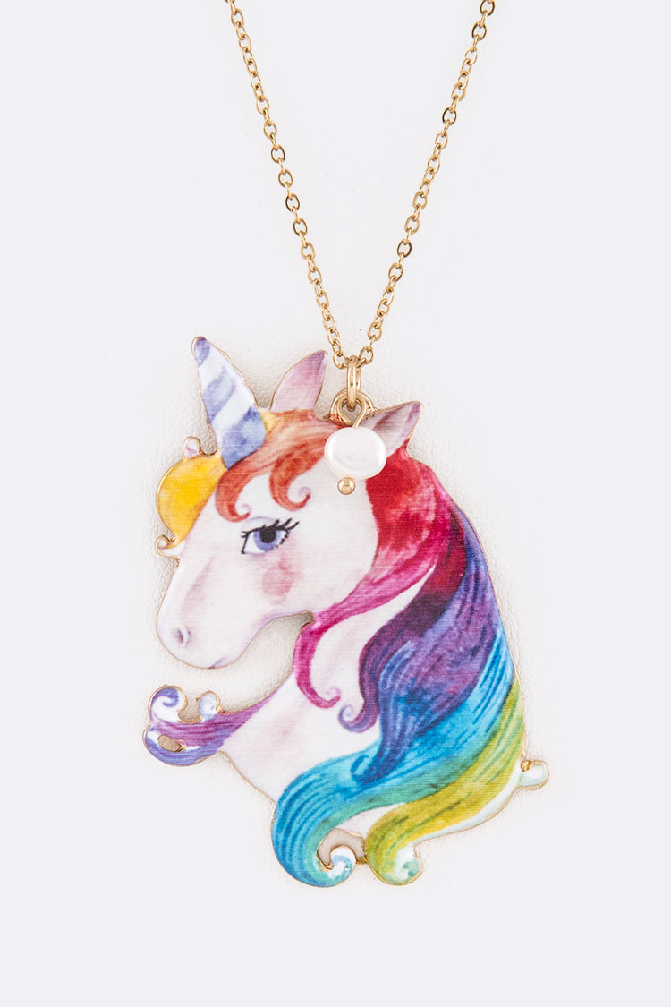 Unicorn Iconic Pendant Necklace Set