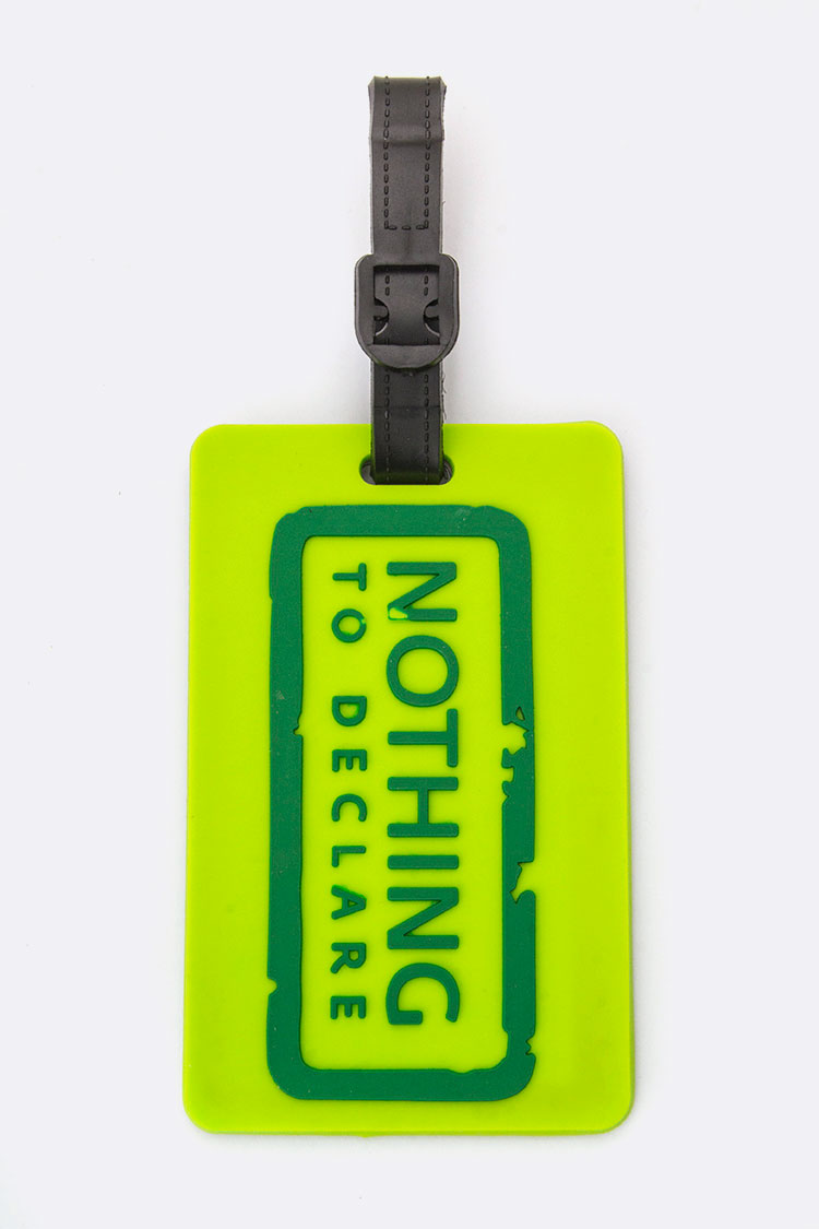 Nothing To Declare Jelly Bag & Luggage Tag