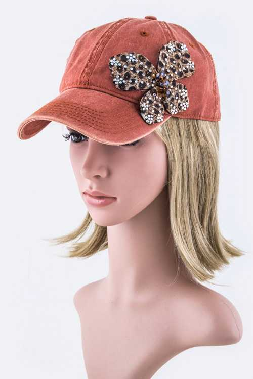 Crystal Butterfly Fashion Cap