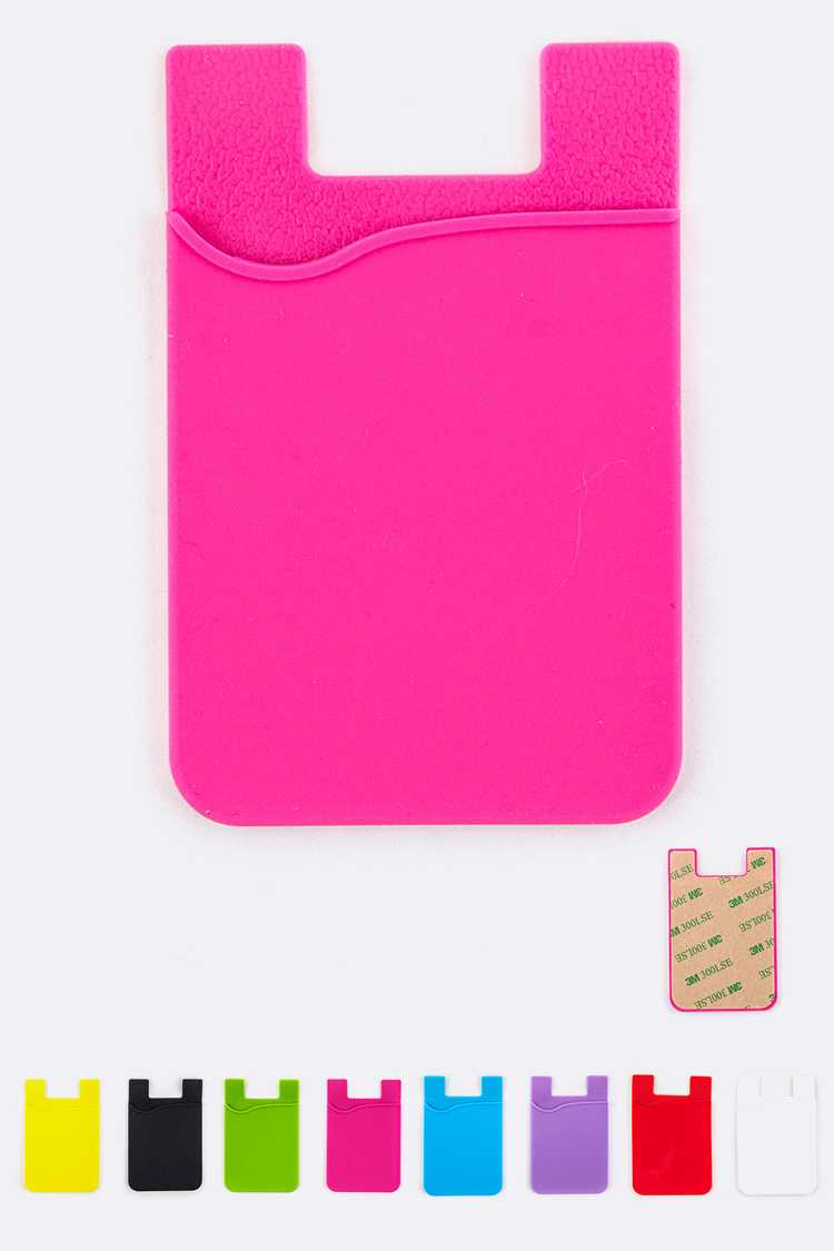 Silicon Phone Credit Card Holder