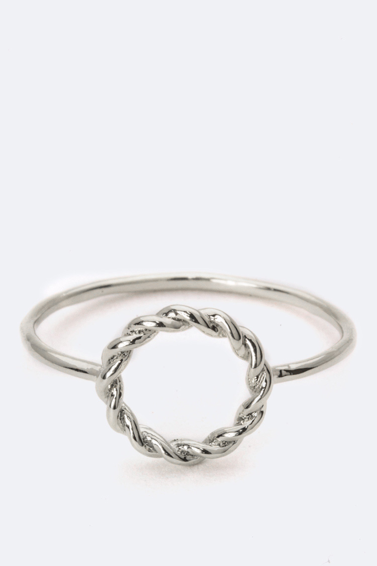 Twisted Hoop Ring