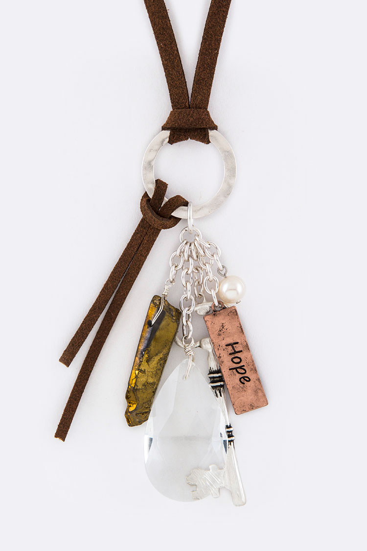 Hope Mix Key Charms Necklace