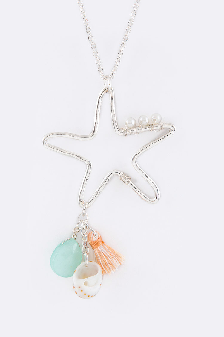 Charmed Starfish Pendant Necklace