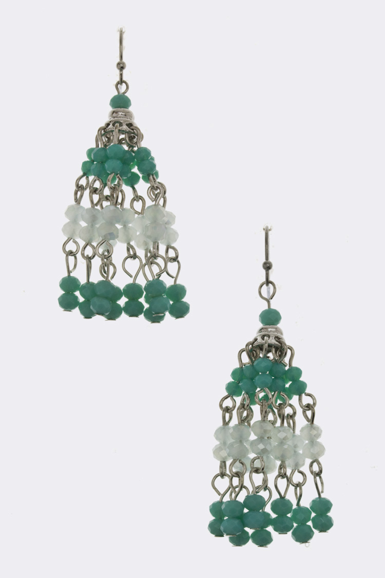 Beads Tassel Earrings