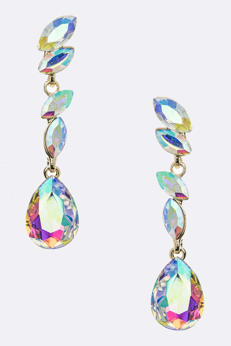 Crystal Marquis Teardrop Earrings