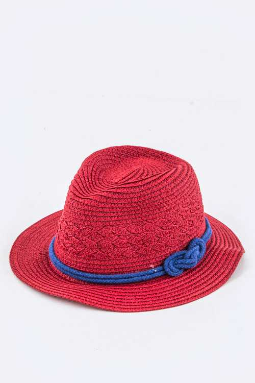 Kid's Knotted Rope Fashion Straw Hat