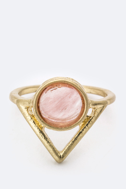 Semi Precious Stone Arrow Ring