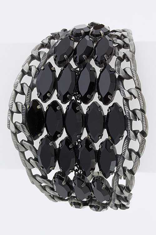 Crystal Marquee Double Chain Bracelet