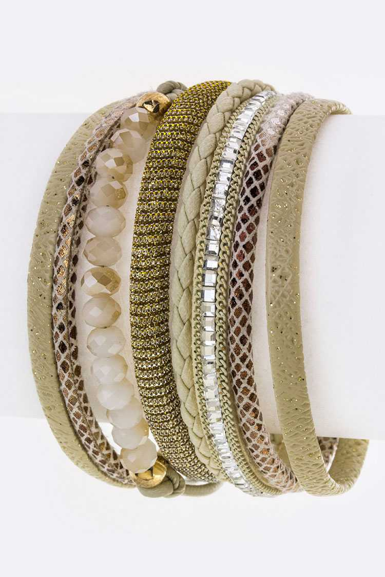 Bead & Mix Textured Layer Cuff