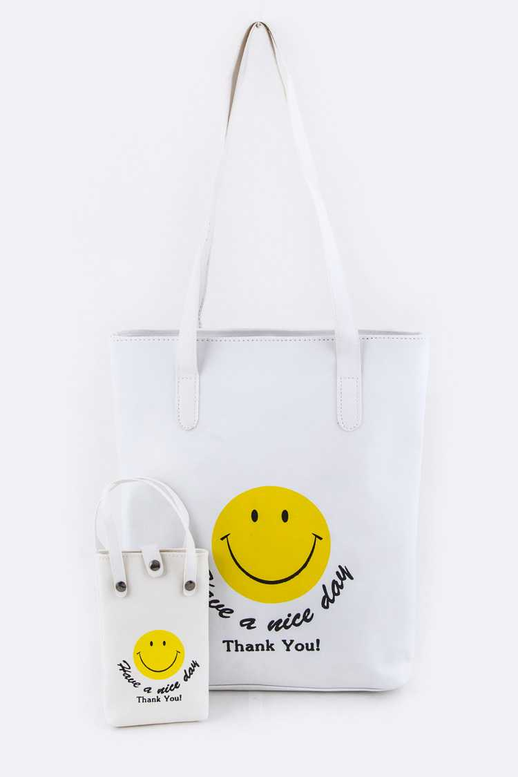 HAVE A NICE DAY Iconic Tote & Mini Pouch