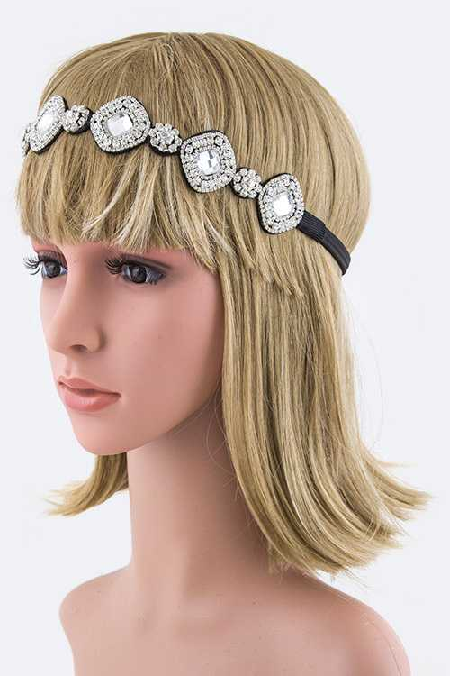 Mix Crystals Stretch Headband