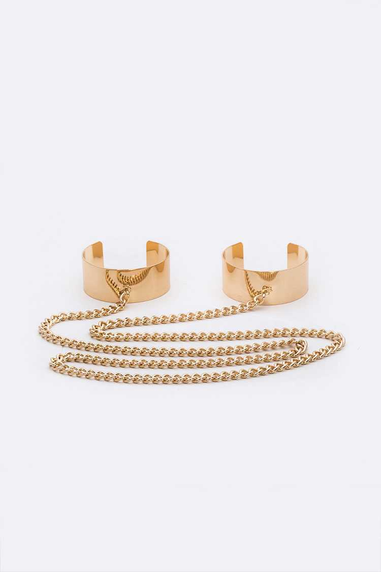 Adjustable Double Chain Cuff