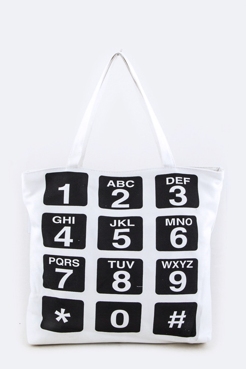 Phone Keypad Fashion Tote