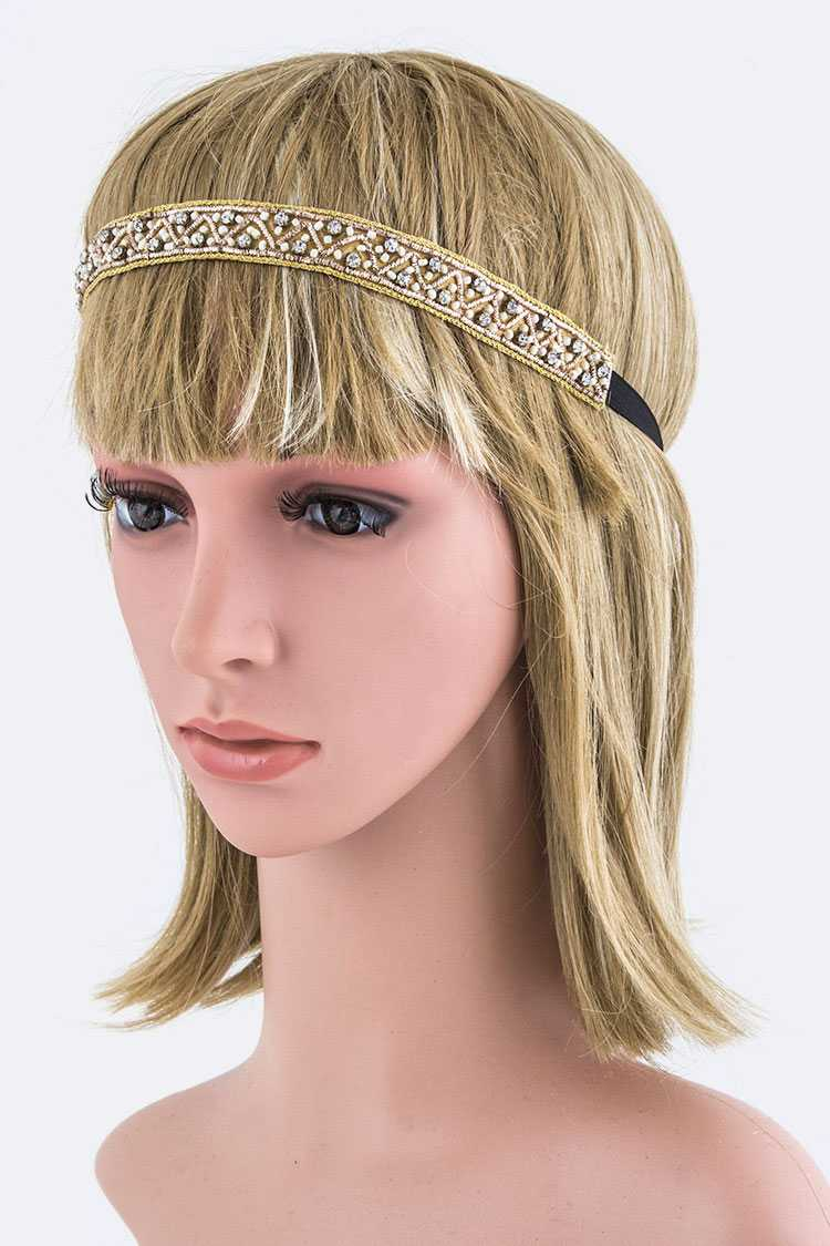 Crystal & Mix Beads Headband