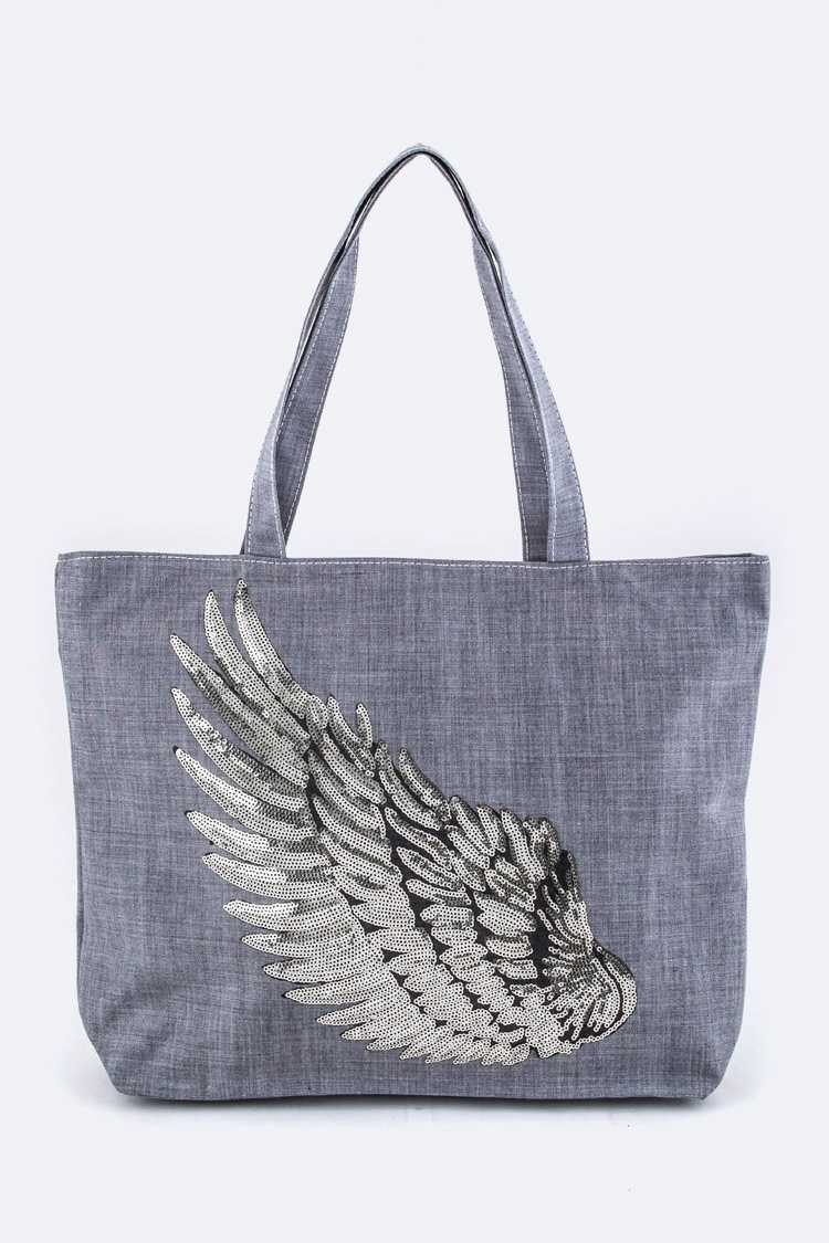 Sequins Wing Fashion Tote