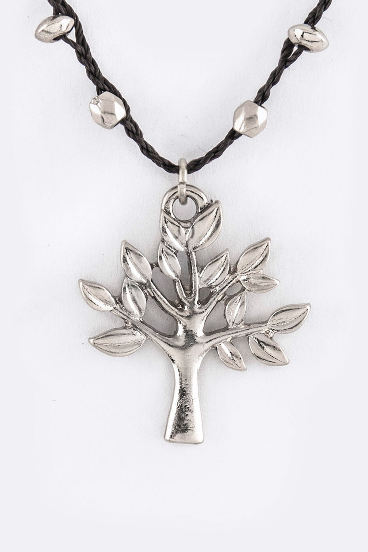 Wisdom Tree Pendant Necklace Set