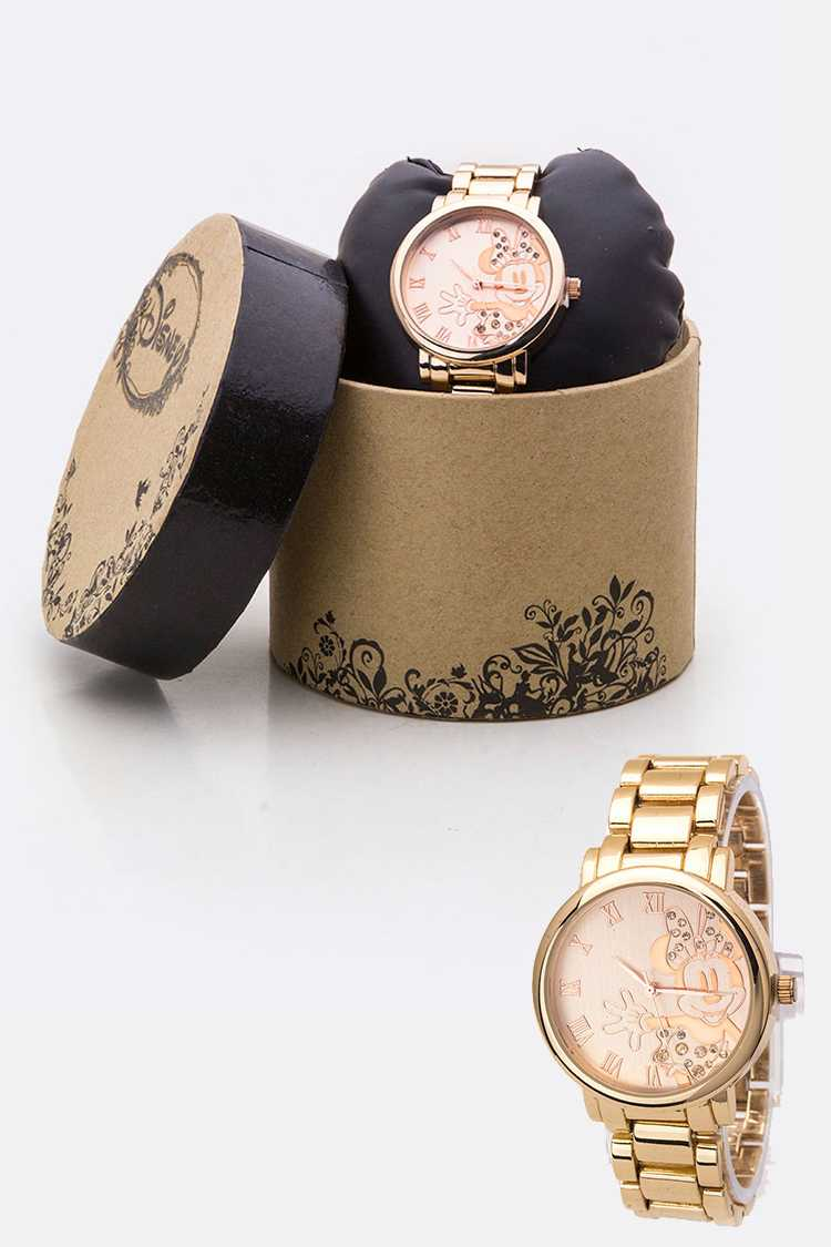 Pave Crystals Roman Number Minnie Watch