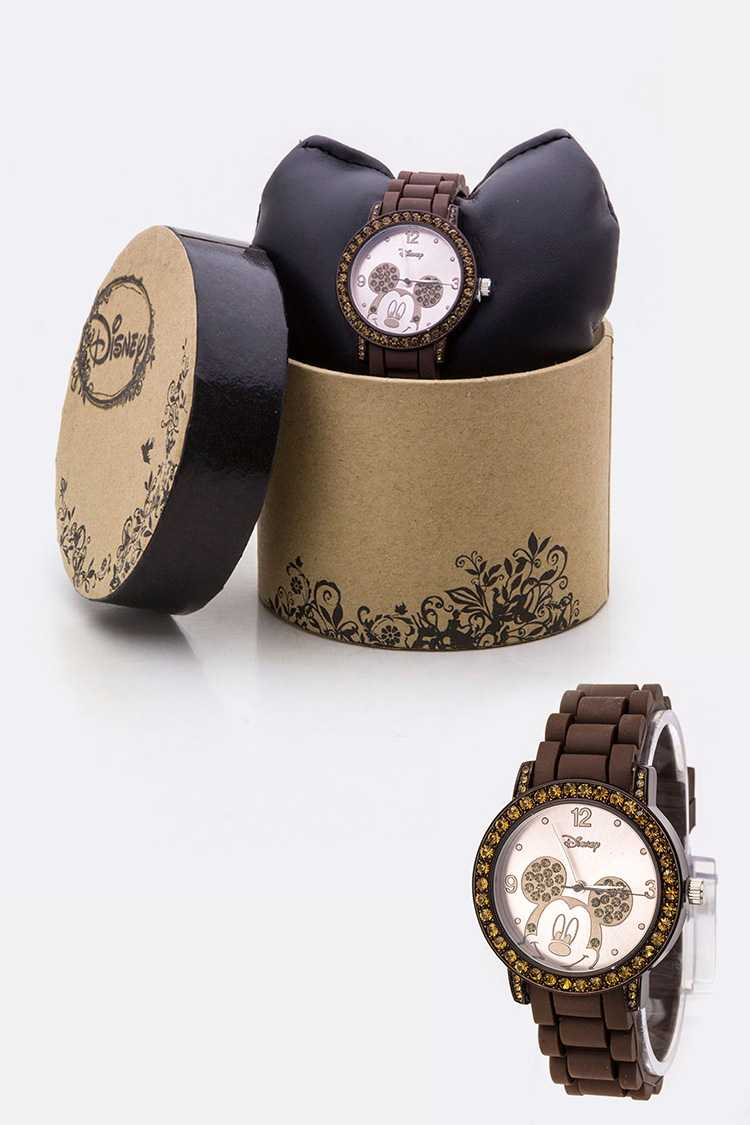 Pave Crystals Mickey Jelly Watch