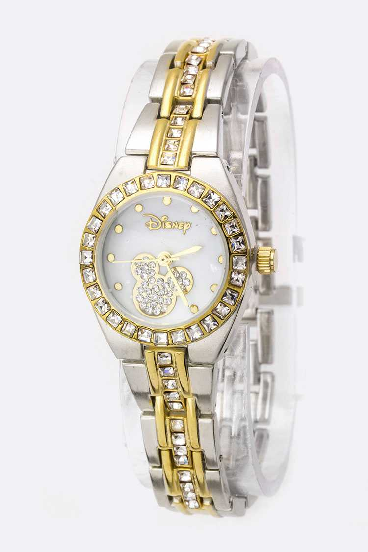 Pave Crystals Disney Fashion Watch