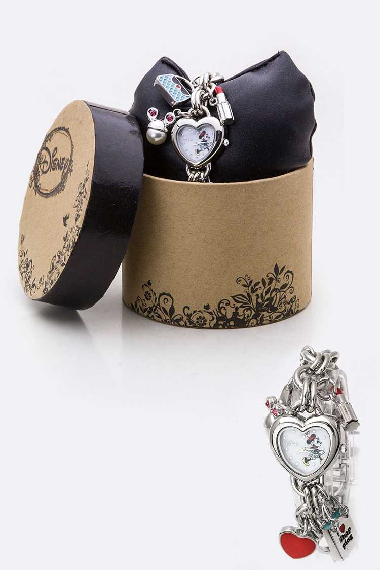 Mix Charmed Heart Minnie Bracelet Watch