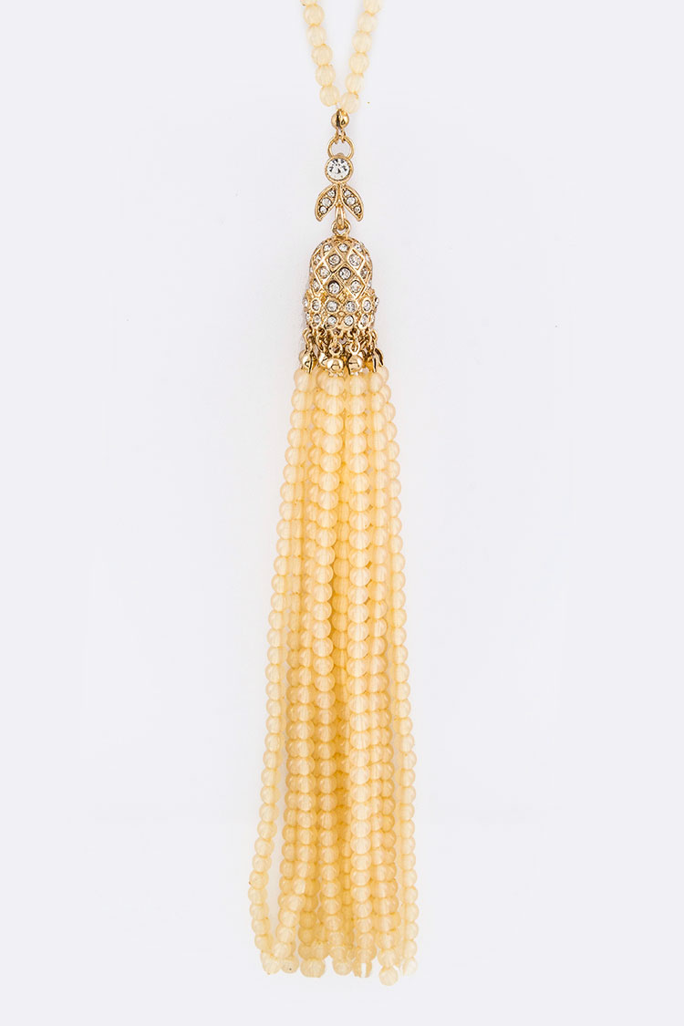 Bead Tassel Necklace