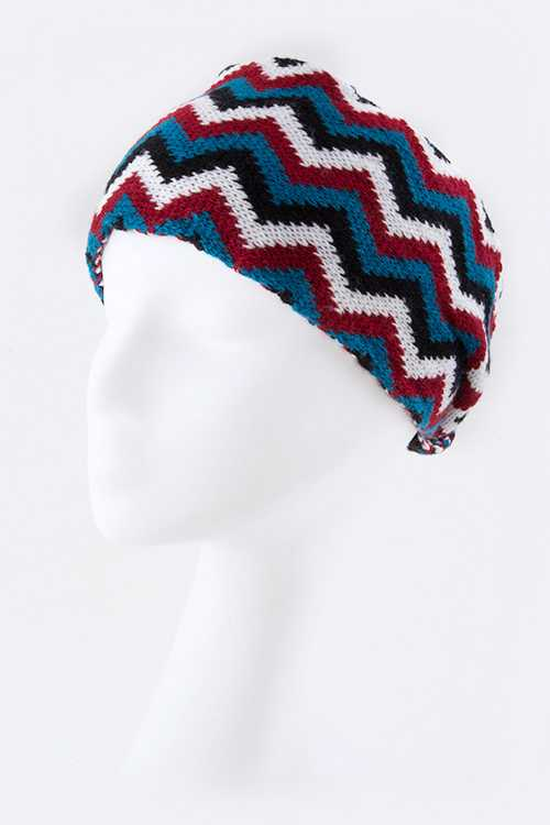 Sweater Knit Fashion Chevron Headband