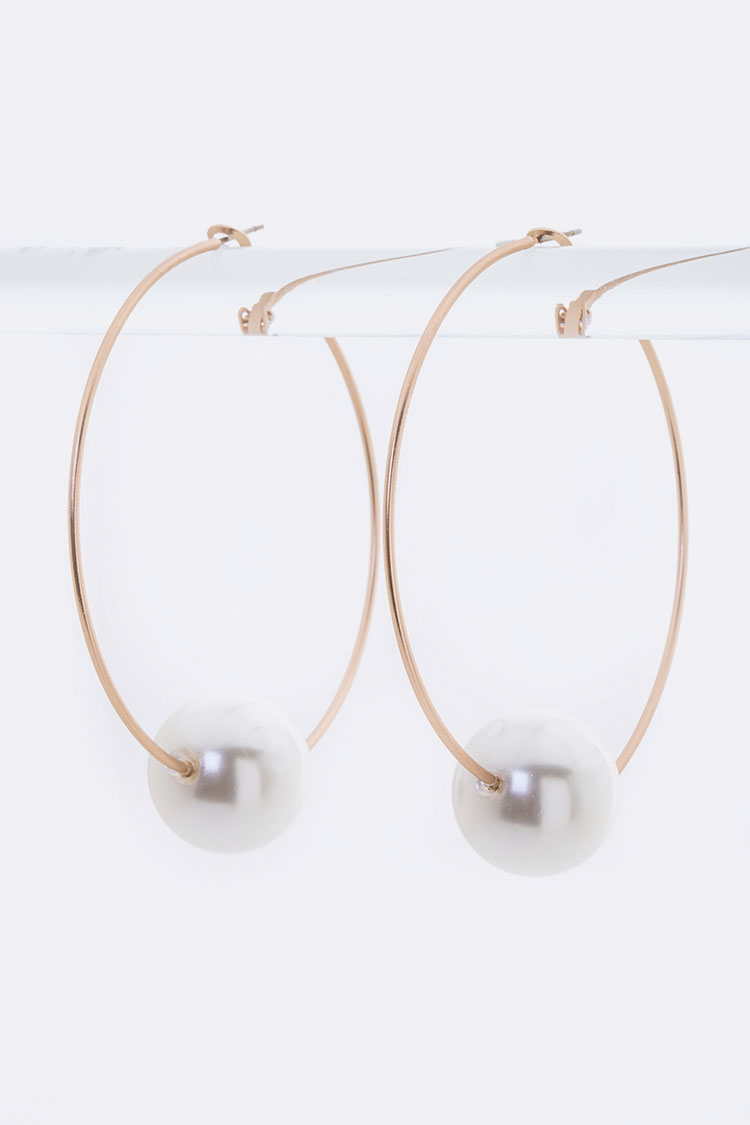 Pearl Slider Iconic Hoops