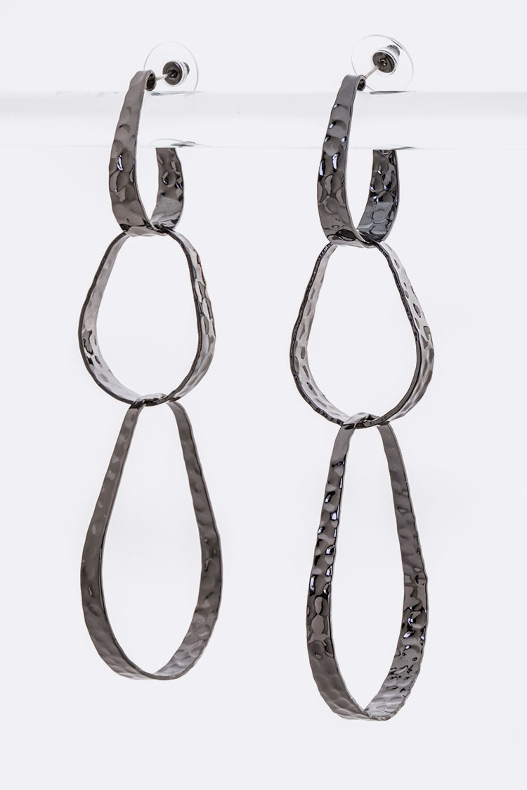 Iconic Hammered Hoop Earrings