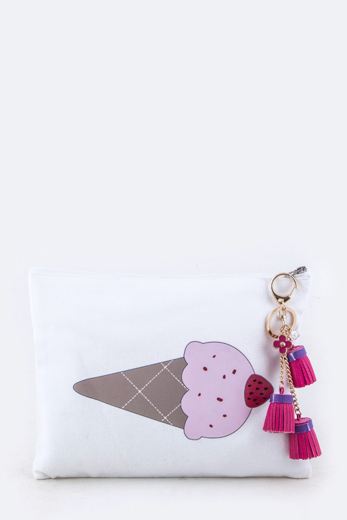 Ice Cream Cone Charmed Pouch