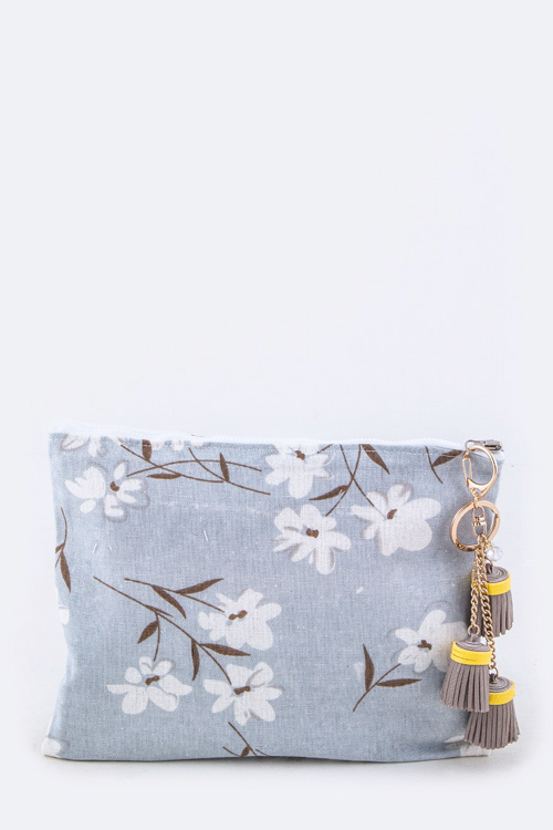 Triple Tassel Cotton Linen Soft Pouch