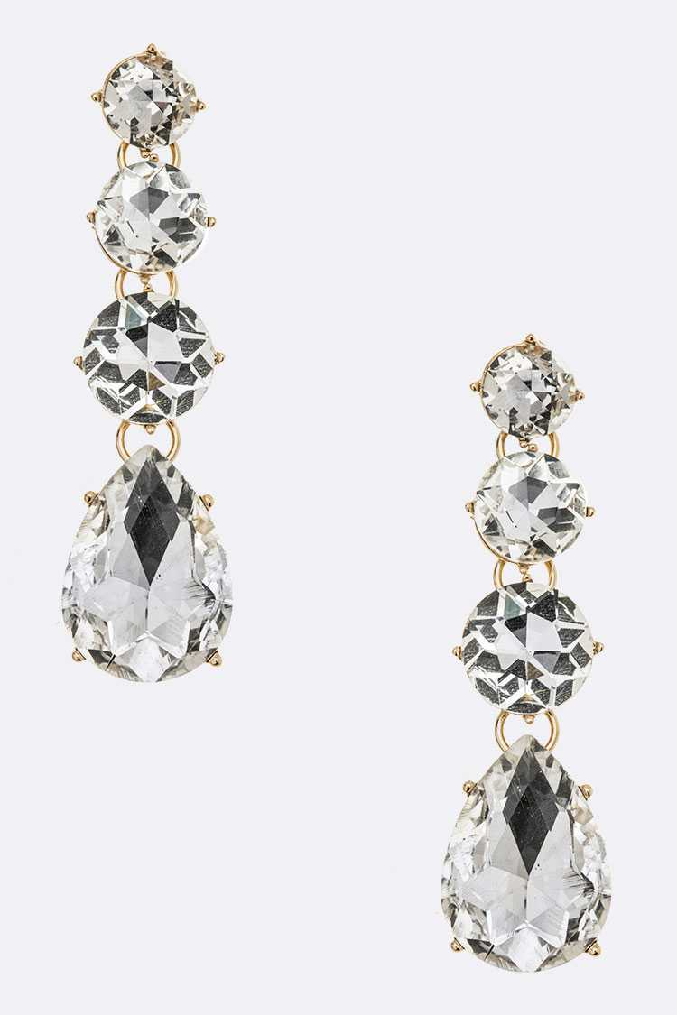 Crystal Bejeweled Statement Earrings