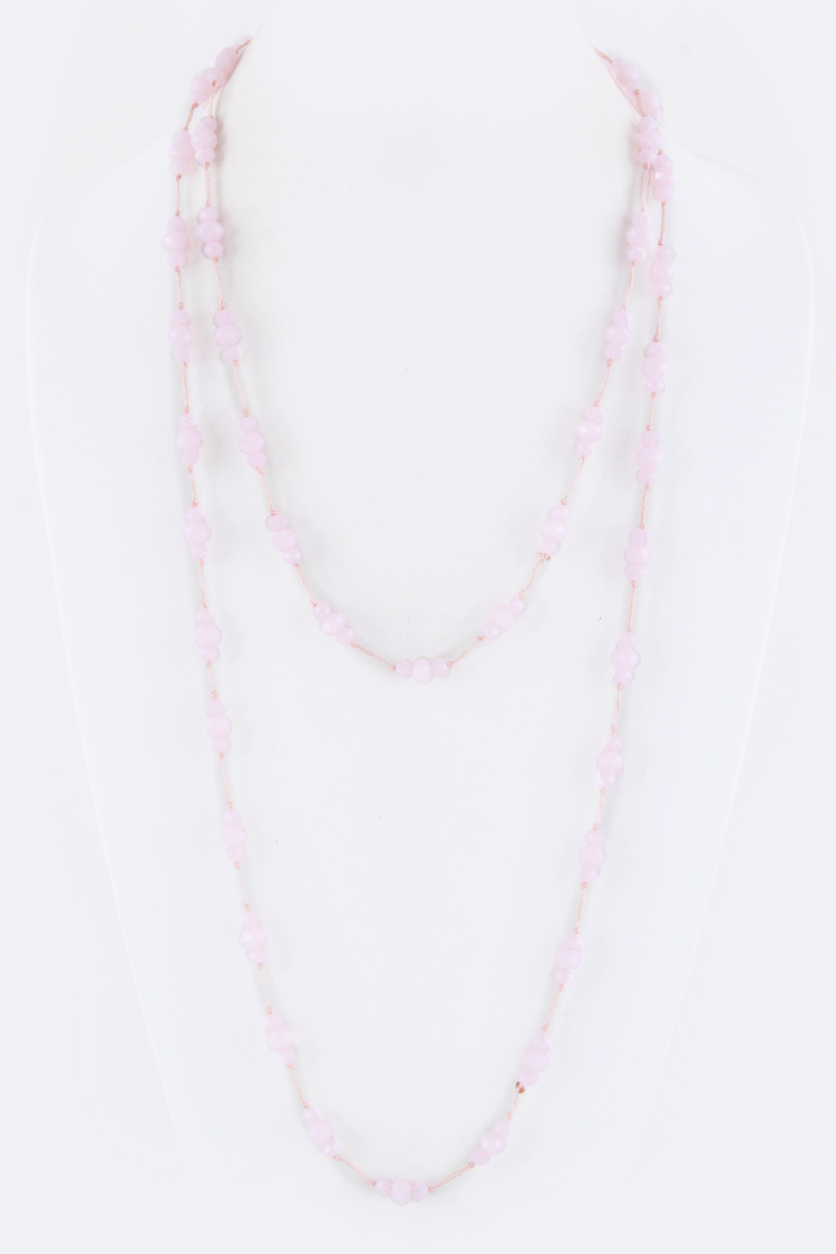 "56"" Beads Station Necklace"