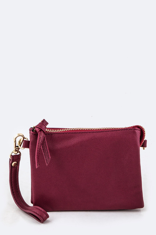 Double Pockets Convertible Pouch
