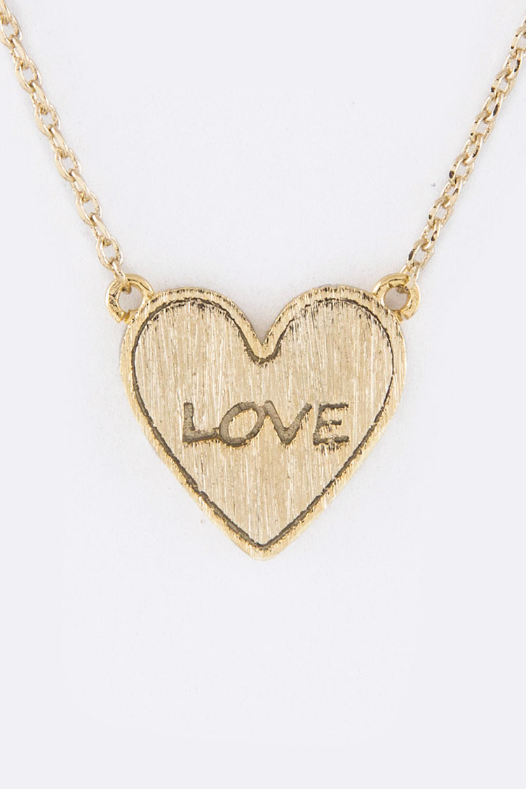 Petite Heart Pendant Necklace
