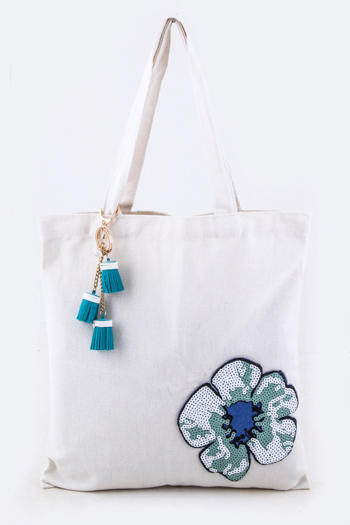 Sequins Flower Fashion Tote