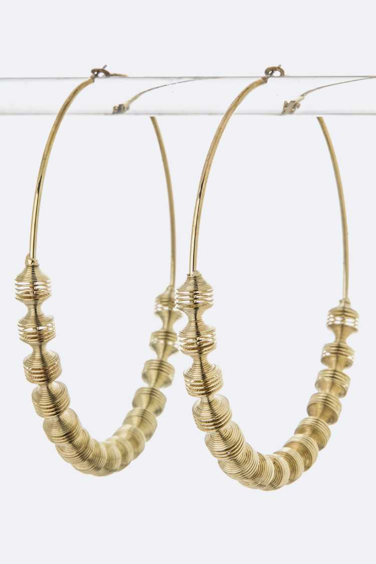 Coiled Wire Hoop Earrings