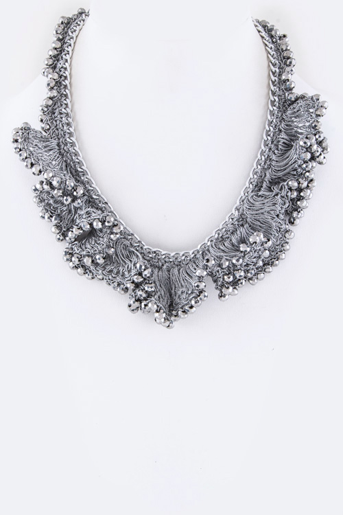 Frilled Beads Iconic Necklace