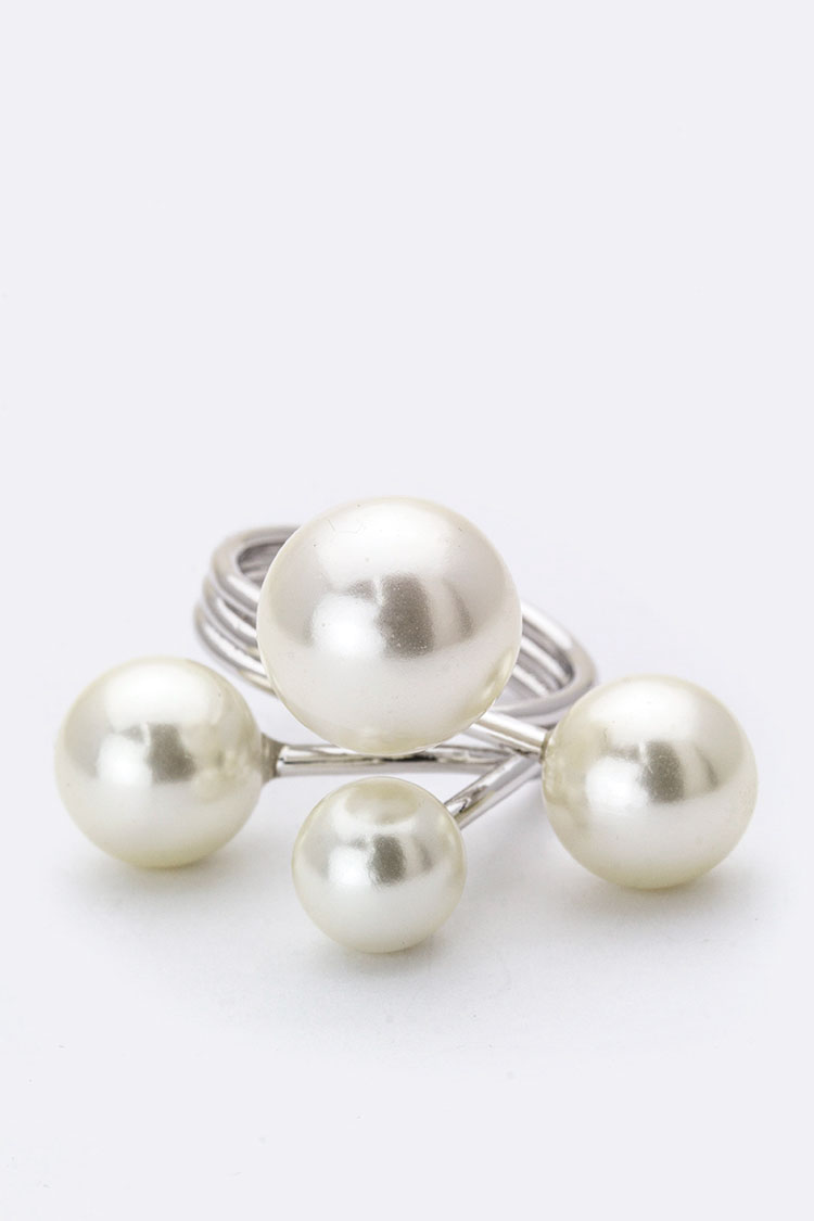 Iconic Mix Pearl Ring