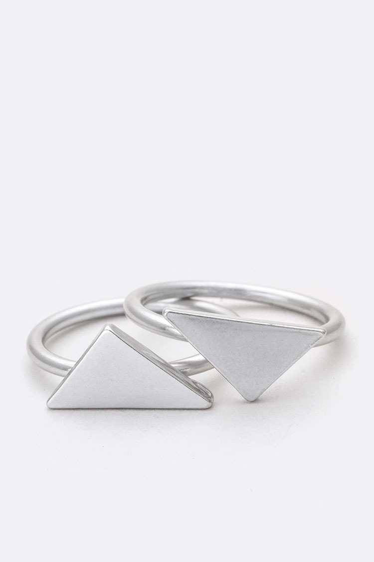 Double Triangle Ring Set