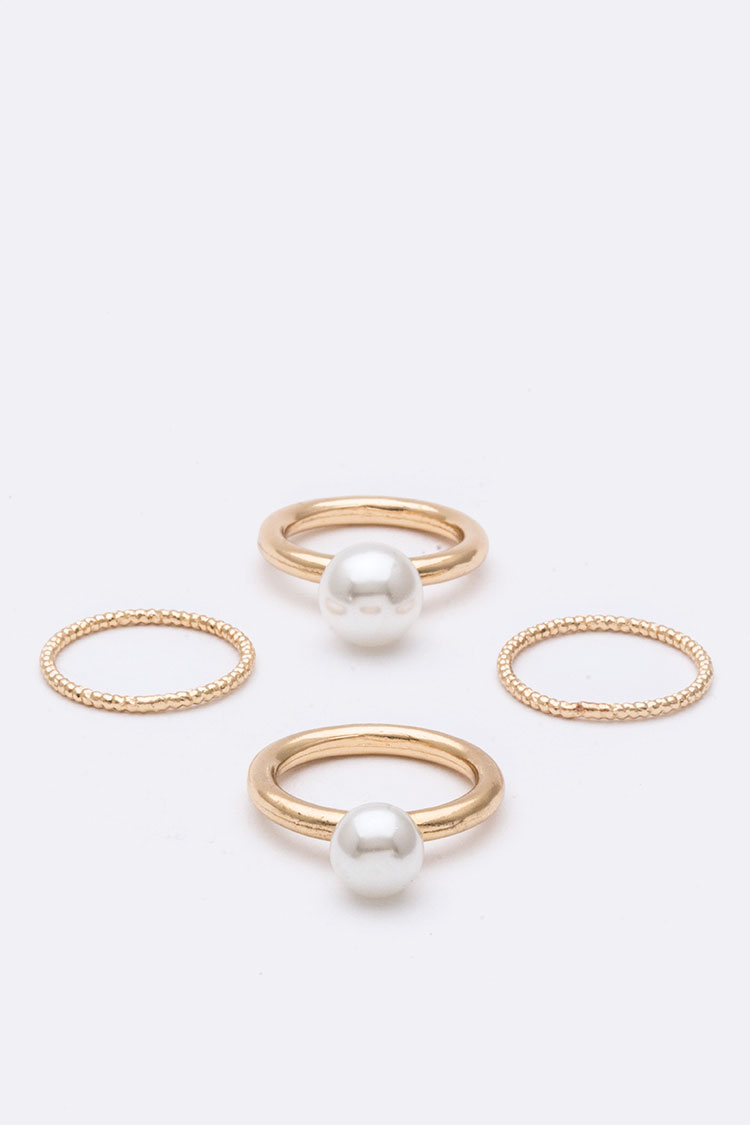 Iconic Pearl Ring Set