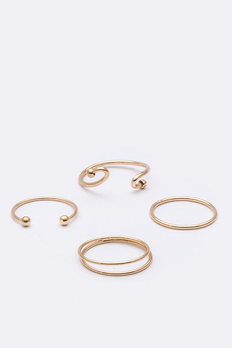 Adjustable Iconic Ring Set