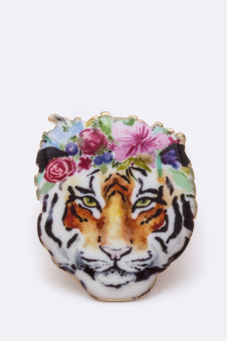 Tiger Print Iconic Stretch Ring